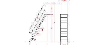 Rampový žebřík - nákres